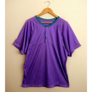 Vintage 90s REI Mens Purple Mesh Athletic Top